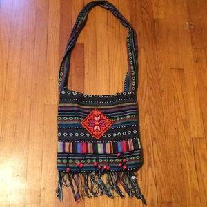Handbags - Boho hippie colorful fringe crossbody purse